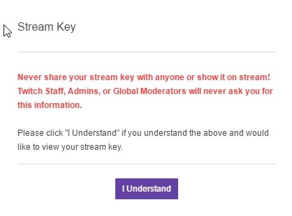 Where is my Twitch Stream Key