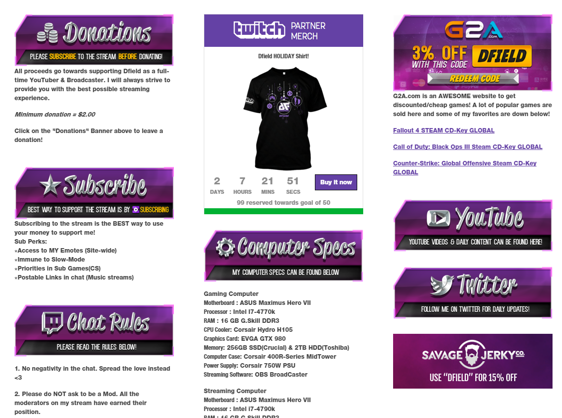 11 Killer Examples Of Twitch Panels You Must See
