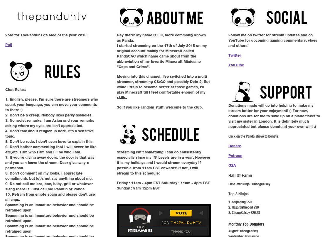 11 Killer Examples of Twitch Panels You Must See -